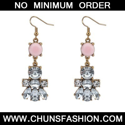 Pink Diamond Bee Shape Earring