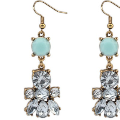 Blue Diamond Bee Shape Earring