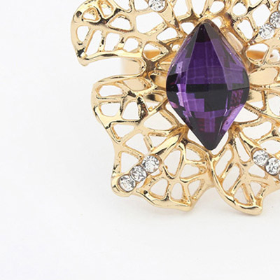 Purple Hollow Out Ring