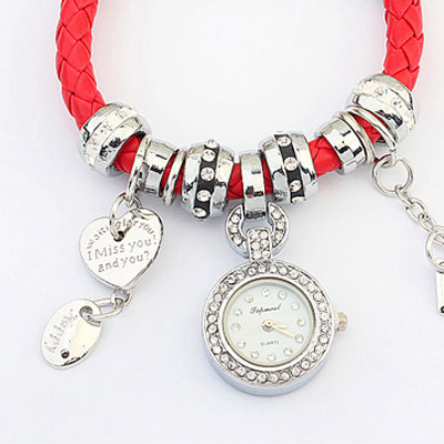 Red Multielement Ladies Watch