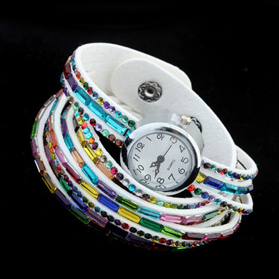 White Diamond Multilayer Ladies Watch