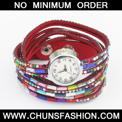 Red Diamond Multilayer Ladies Watch