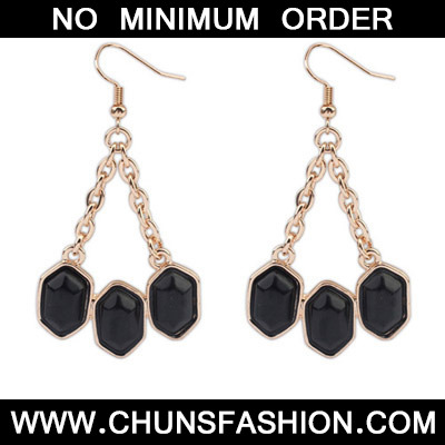Black Geometrical Shape Earring