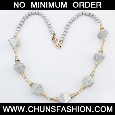 Silver Rhombus Shape Necklace