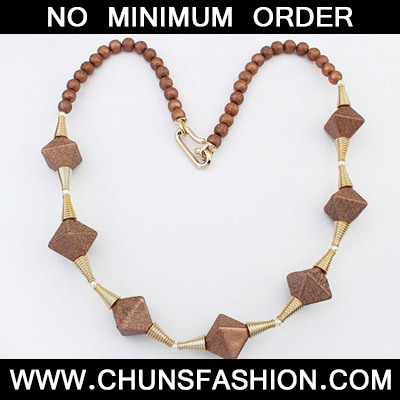 Coffee Rhombus Shape Necklace