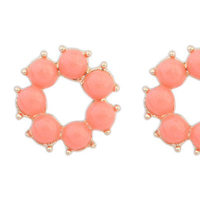 Plum Red Candy Flower Shape Stud Earring