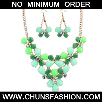 Green butterfly shape Jewelry Set