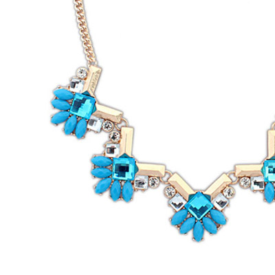 Blue Geometrical Shape Jewelry Set