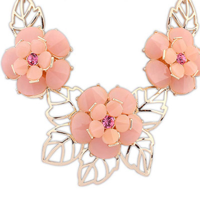 Pink Flower Jewelry Set - Click Image to Close