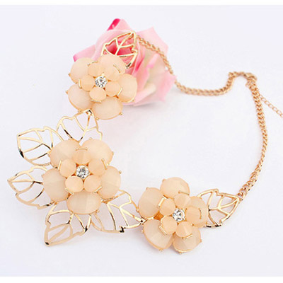 Apricot Flower Jewelry Set