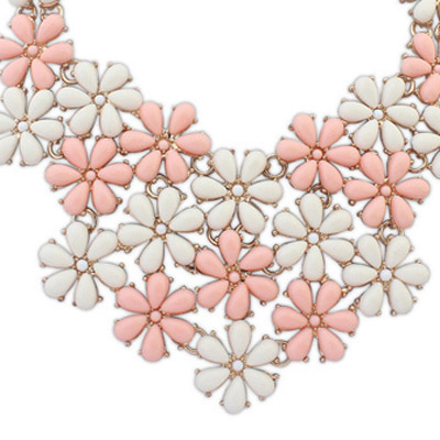 Pink & Beige Flower Shape Jewelry Set