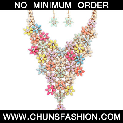 MultiDiamond Flower Jewelry Set