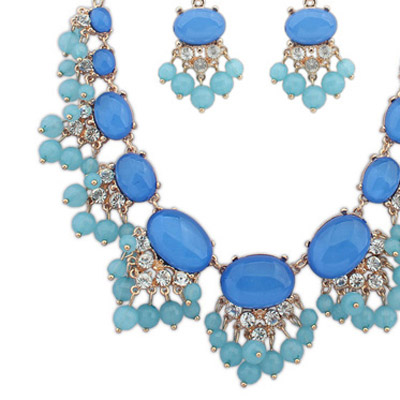 Blue Jewelry Set - Click Image to Close