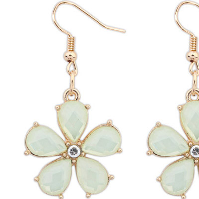 Light Yellow Flower Earring