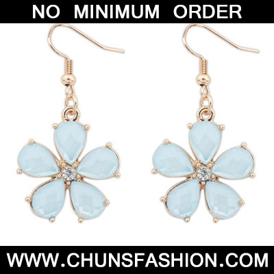 Light Blue Flower Earring