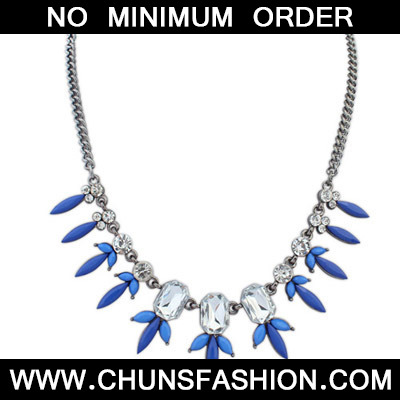 Blue Diamond Geometrical Shape Necklace
