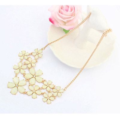 Light Yellow Flower Jewelry Set