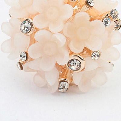 Apricot Candy Flower Ring