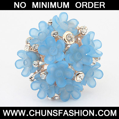 Blue Candy Flower Ring