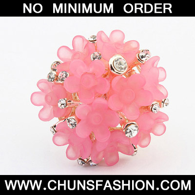 Pink Candy Flower Ring