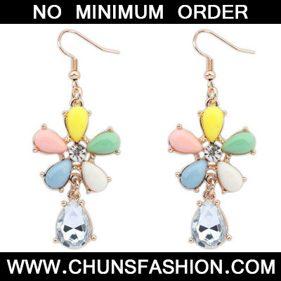 Multi Decoraed Flower Earring
