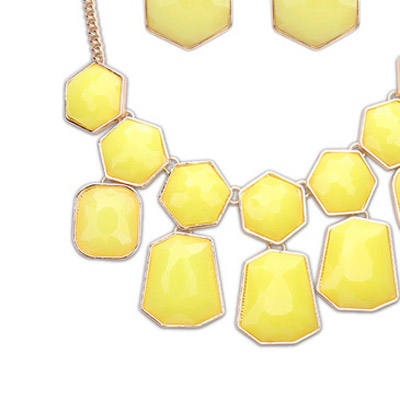 Yellow Geometrical Shape Jewelry Set