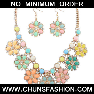 MultiFlower Jewelry Set