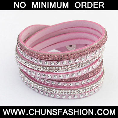Light Purple Diamond Multilayer Bracele