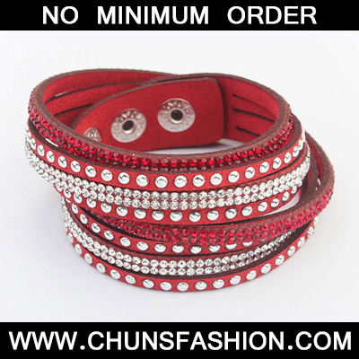 Red Diamond Multilayer Bracele