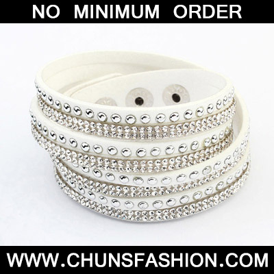 White Diamond Multilayer Bracele