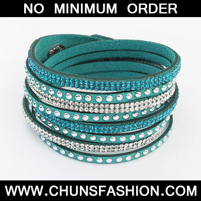 Green Diamond Multilayer Bracele