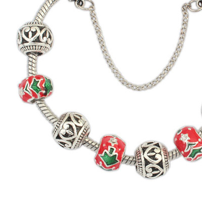 Red Christmas Hollow Out Bracele