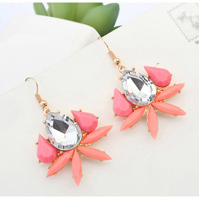 Pink Waterdrop Shape Earring