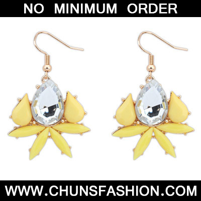 Yellow Waterdrop Shape Earring