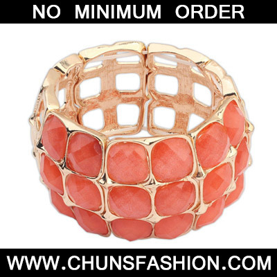 Orange Square Multilayer Bangle
