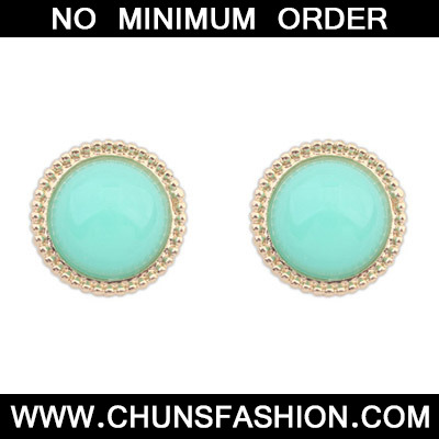 Light Green Candy Round Shape Stud Earring
