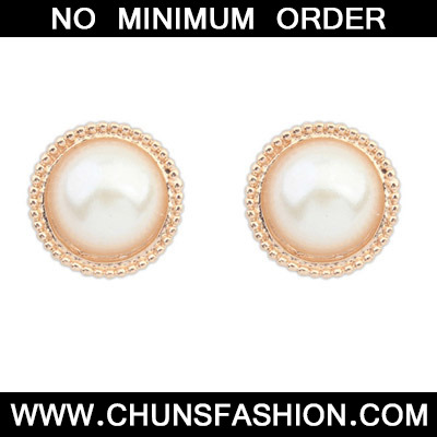 White Candy Round Shape Stud Earring