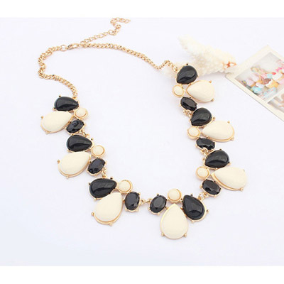 Balck & White Waterdrop Shape Jewelry Set