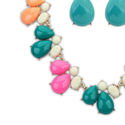 MultiWaterdrop Shape Jewelry Set