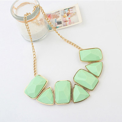 Light Green Geometrical Shape Jewelry Set
