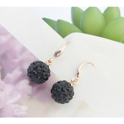 Black Diamond Ball Shape Earring