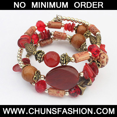 Red Multilayer Bracele