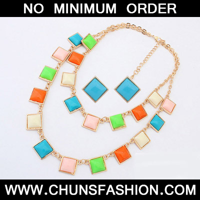 MultiSqaure Shape Jewelry Set