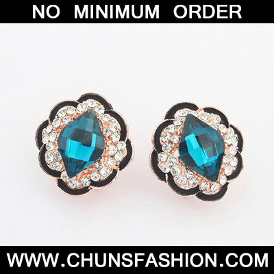 Blue Flower Stud Earring