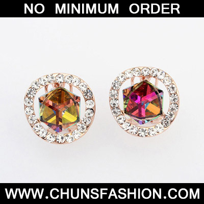 MultiDiamond Geometrical Shape Stud Earring