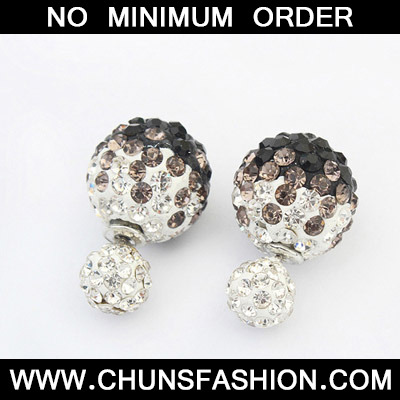 Black Diamond Round Shape Stud Earring