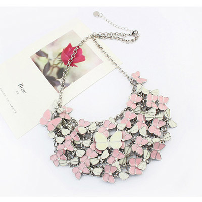 Pink & White Butterfly Shape Multilayer