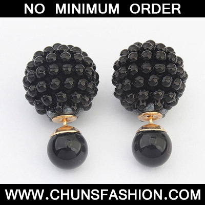 Black Candy Round Shape Earring