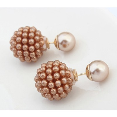 Coffee Candy Round Shape Earring