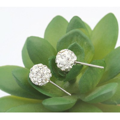 White Diamond Round Shape Earring